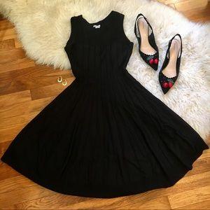 Black knit cocktail dress